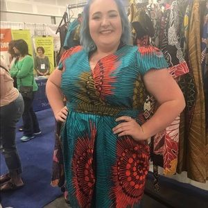 Gorgeous African Print Dress by Nashona.